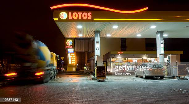 A Grupa Lotos SA gas filling station is seen in Gdansk Poland on Monday Dec 6 2010 Russian companies such as OAO Gazprom's oil arm and OAO Rosneft...