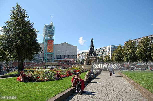 grupello pyramid in mannheim (germany) - mannheim stock pictures, royalty-free photos & images