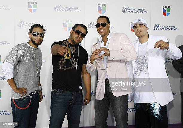 Grupo Aventura arrives at the Bank United Center for the Premios Juventud Awards on July 19 2007 in Coral Gables Florida