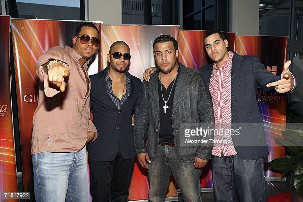 Grupo Aventura attend Univision studios for the special Latin Grammy Celebra Nuestra Musica 2006 on September 7 2006 in Miami Florida