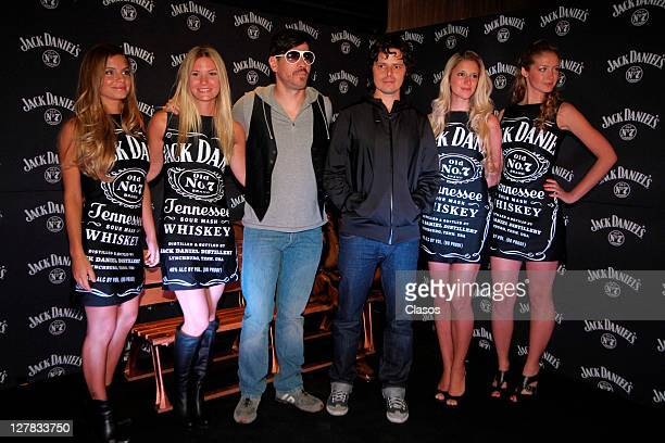 Grupo Dildo at Red carpet of Aniversari 161 the Jack Daniels at Foro Condesa on September 30 2011 in Mexico city Mexico