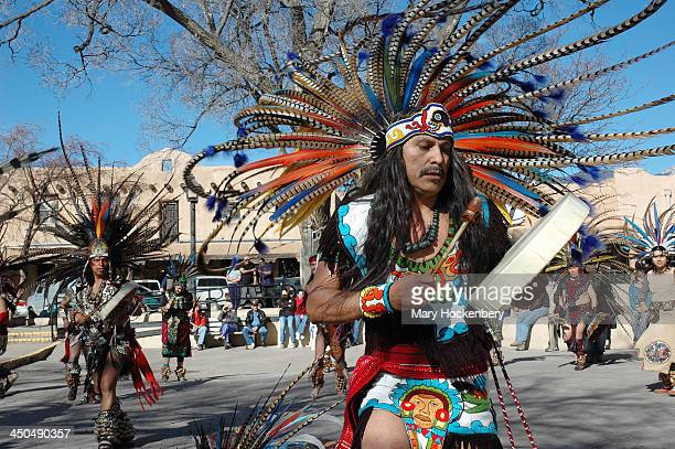 CONTENT] Grupo Tlaloc Danza Azteca a group of Aztec dancers from Denver CO performed a ceremonial dance at the Plaza in Taos NM in February of 2006...