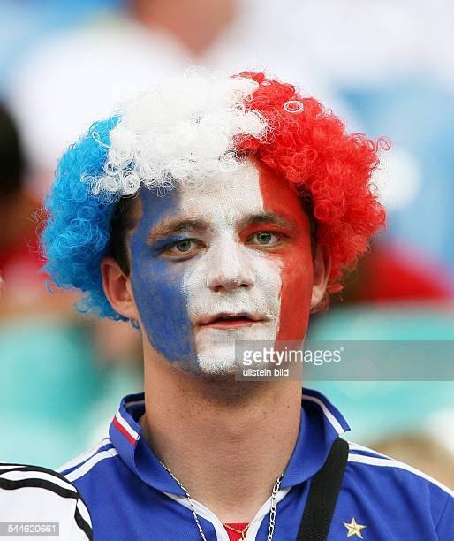 FIFA WM 2006 Gruppe G Leipzig Frankreich Südkorea 11 Fan Frankreich