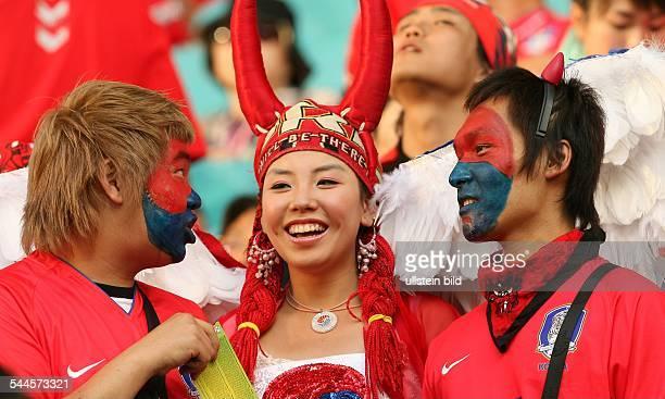FIFA WM 2006 Gruppe G Leipzig Frankreich Südkorea 11 koreanische Fans