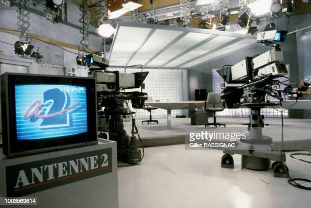 Grève à Antenne 2 le 21 septembre 1988 à Paris France