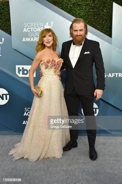 Gry Molvær Hivju and Kristofer Hivju attend the 26th Annual Screen Actors Guild Awards at The Shrine Auditorium on January 19 2020 in Los Angeles...