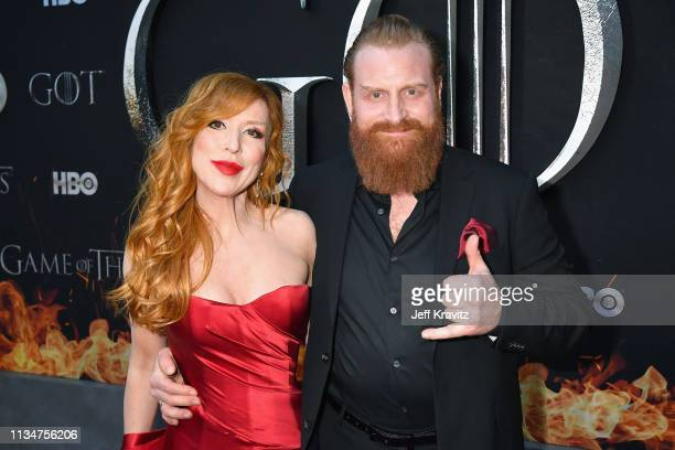 Gry Molvær Hivju and Kristofer Hivju attend the Game Of Thrones Season 8 NY Premiere on April 3 2019 in New York City