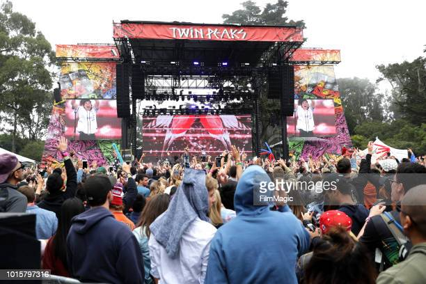 Gryffin performs on the Twin Peaks Stage during the 2018 Outside Lands Music And Arts Festival at Golden Gate Park on August 12 2018 in San Francisco...