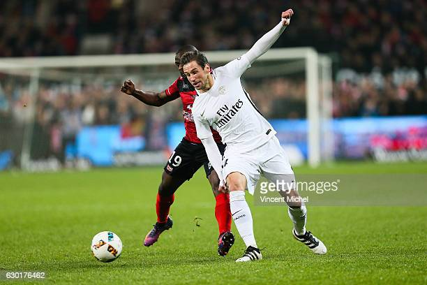 Grzegorz Krychowiak of Paris Saint Germain during the French Ligue 1 match between Guingamp and Paris Saint Germain at Stade du Roudourou on December...