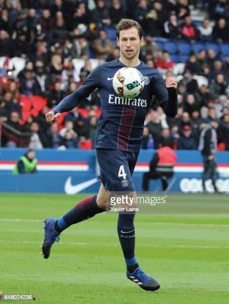 Grzegorz Krychowiak of Paris SaintGermain during the French Ligue 1 match between Paris SaintGermain and AS NancyLorraine at Parc des Princes on...