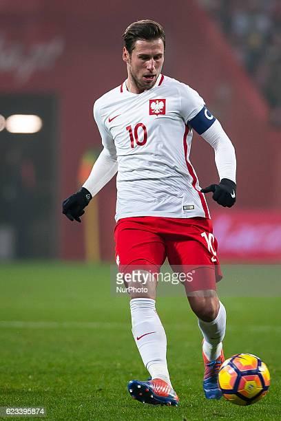 Grzegorz Krychowiak of Poland during the international friendly football match Poland vs Slovenia on November 14 2016 in Wroclaw