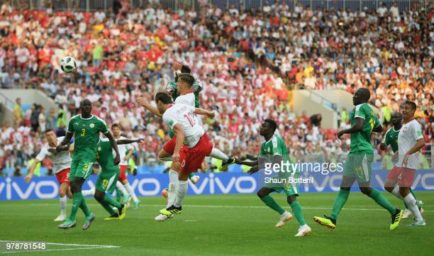 Grzegorz Krychowiak of Poland scores a goal during the 2018 FIFA World Cup Russia group H match between Poland and Senegal at Spartak Stadium on June...
