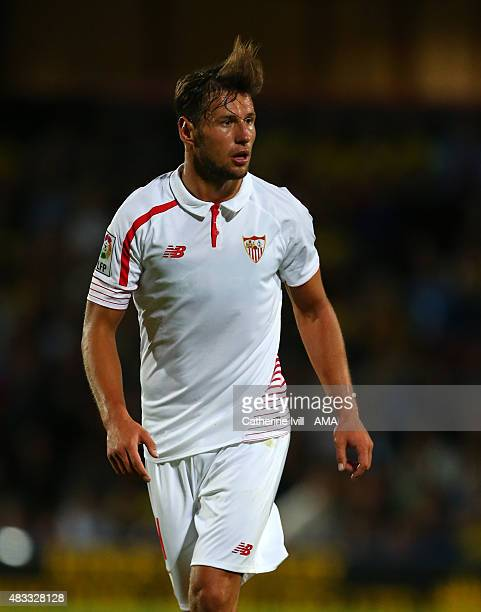 Grzegorz Krychowiak of Sevilla during the preseason friendly between Watford and Seville at Vicarage Road on July 31 2015 in Watford England