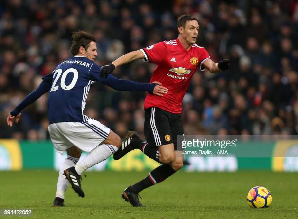 Grzegorz Krychowiak of West Bromwich Albion and Nemanja Matic of Manchester United during the Premier League match between West Bromwich Albion and...