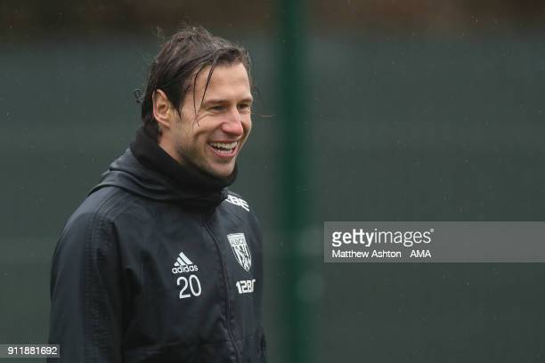 Grzegorz Krychowiak of West Bromwich Albion during a on January 29 2018 in West Bromwich England