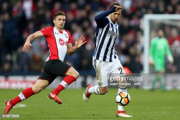 Grzegorz Krychowiak of West Bromwich Albion during the Emirates FA Cup Fifth Round between West Bromwich Albion and Southampton at The Hawthorns on...