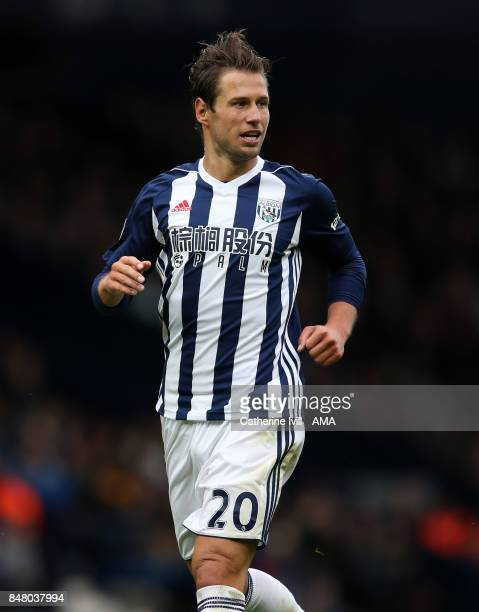 Grzegorz Krychowiak of West Bromwich Albion during the Premier League match between West Bromwich Albion and West Ham United at The Hawthorns on...