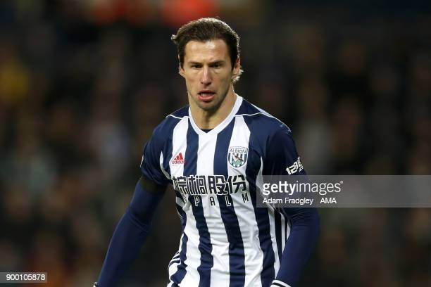 Grzegorz Krychowiak of West Bromwich Albion during the Premier League match between West Bromwich Albion and Arsenal at The Hawthorns on December 31...
