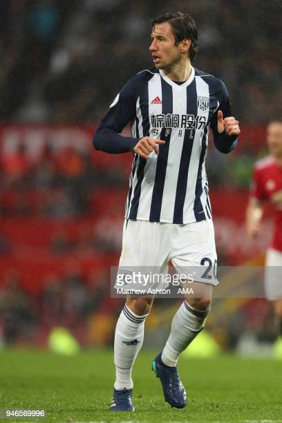Grzegorz Krychowiak of West Bromwich Albion during the Premier League match between Manchester United and West Bromwich Albion at Old Trafford on...