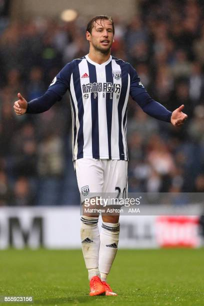 Grzegorz Krychowiak of West Bromwich Albion in action during the Premier League match between West Bromwich Albion and Watford at The Hawthorns on...