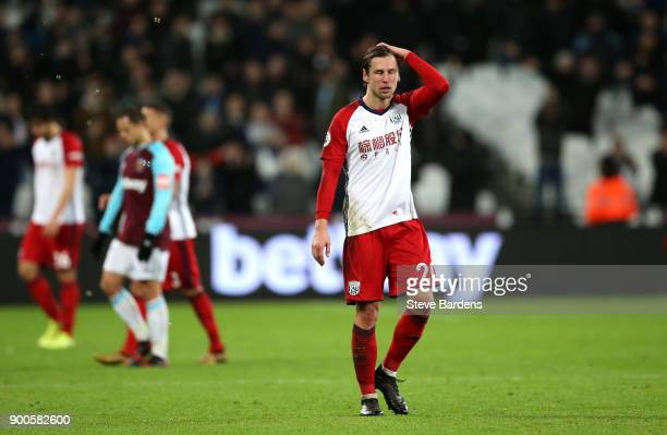 Grzegorz Krychowiak of West Bromwich Albion look dejected after the Premier League match between West Ham United and West Bromwich Albion at London...