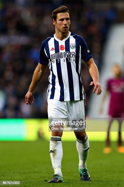 Grzegorz Krychowiak of West Bromwich Albion looks on during the Premier League match between West Bromwich Albion and Manchester City at The...