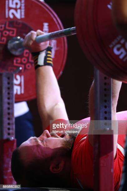 Grzegorz Lanzer of Poland competes during the Men's Up to 65Kg Group A Category as part of the World Para Powerlifting Championships Mexico 2017 at...