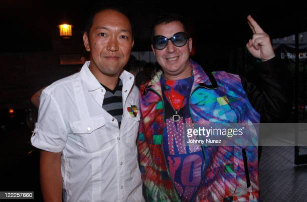 GShock's Tadashi Shibuya and artist Noah G Pop attend the Dee Ricky X GShock event at The Bowery Hotel on June 22 2010 in New York City