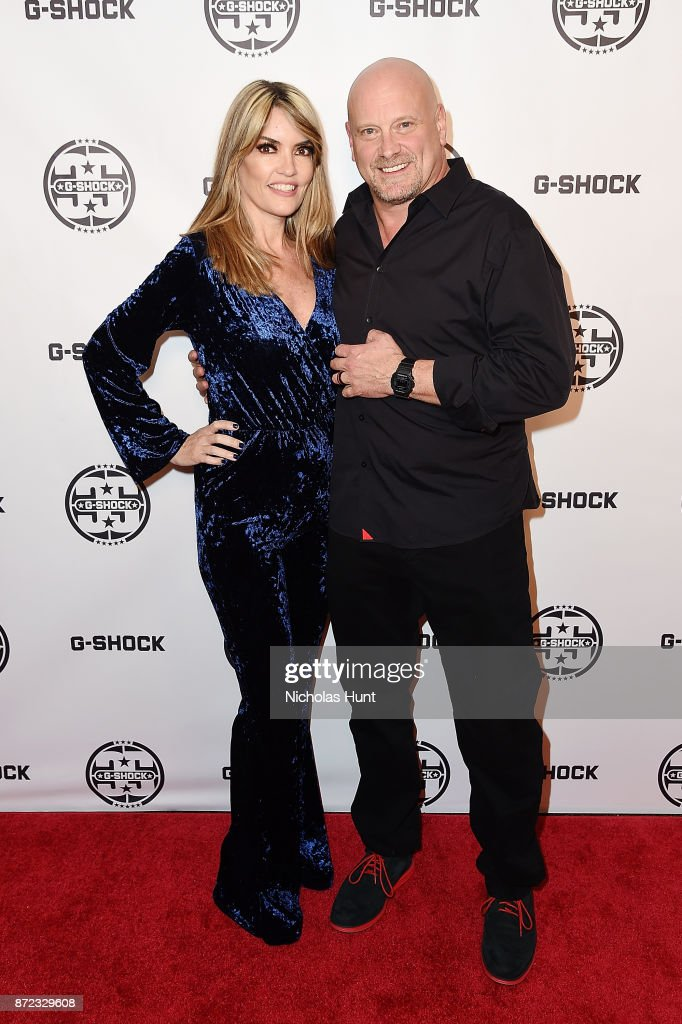 G-Shock's Vice President of Timepieces David Johnson and wife attend the G-Shock 35th Anniversary Celebration at The Theater at Madison Square Garden on November 9, 2017 in New York City.