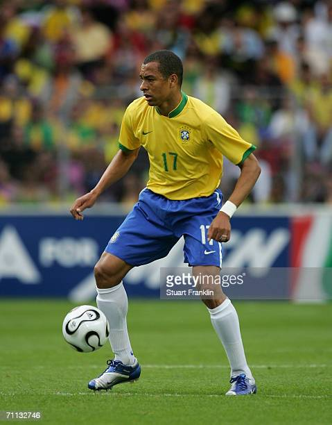 Silva of Brazil in action during the international friendly match between Brazil and New Zealand at the Stadium de Geneva on June 4, 2006 in Geneva,...