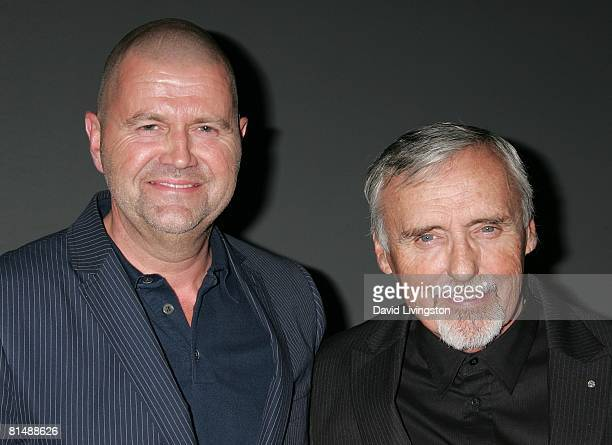 Star CEO Jos van Tilburg and actor Dennis Hopper attend GStar's launch of LA Raw Nights at GStar on June 4 2008 in Beverly Hills California
