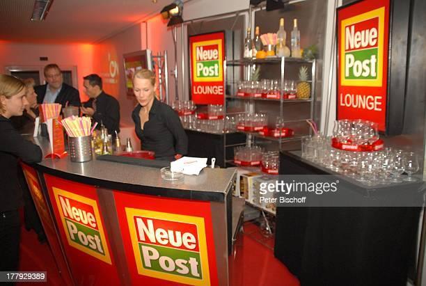Gäste Barkeeper NeuePostLounge ZDFShow Willkommen bei C a r m e n N e b e l Westfalenhalle Dortmund NordrheinWestfalen Deutschland Europa backstage...