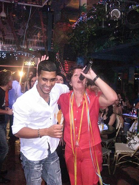 Gäste Beim Karaoke Singen Nachtclub Mangos Cuba South Beach