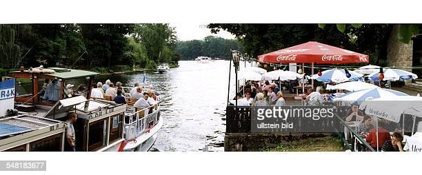 Gäste im Waldrestaurant Müggelhorst am Grossen Müggelsee - August 1999