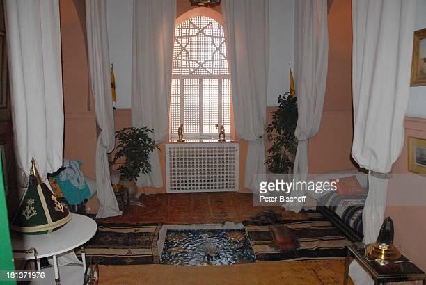 Gästezimmer mit kleinem Springbrunnen der Villa von Henriette von Bohlen und Halbach Homestory Villa Bled Targui Marrakesch Marokko Nordafrika Afrika...