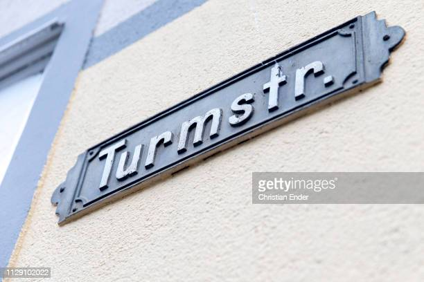 Road sign 'Turmstrasse' in which the charity has its seat Volunteers help with lunch in Göttingen in the so called 'Mittagstisch' an offer initiated...