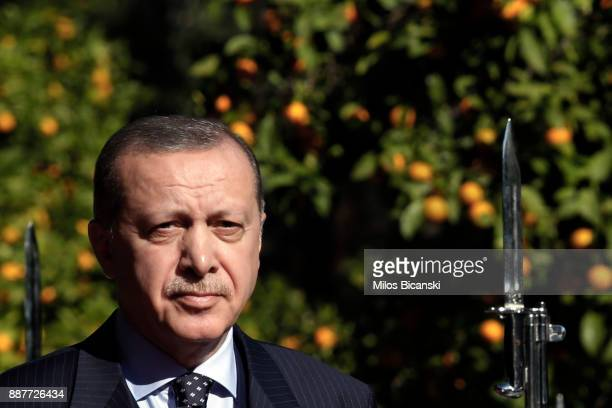 GTurkey's President Recep Tayyip Erdogan during the welcome ceremony in Athens Thursday Dec 7 2017 Erdogan arrived in Athens Thursday for a twoday...