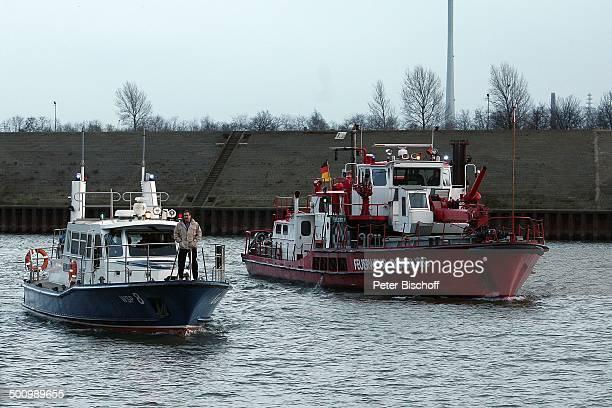 Götz George 25 Jahre Horst Schimanski Duisburg NordrheinWestfalen Deutschland Europa Jubiläum Krimi Serie Reihe Boot Schiff Wasser Schauspieler FTP...