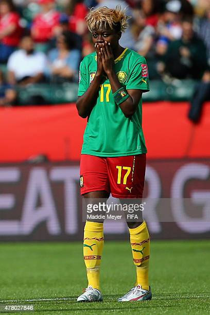 Gu Yasha of China PR looks on during half time of the FIFA Women's World Cup 2015 Round of 16 match between China PR and Cameroon at Commonwealth...