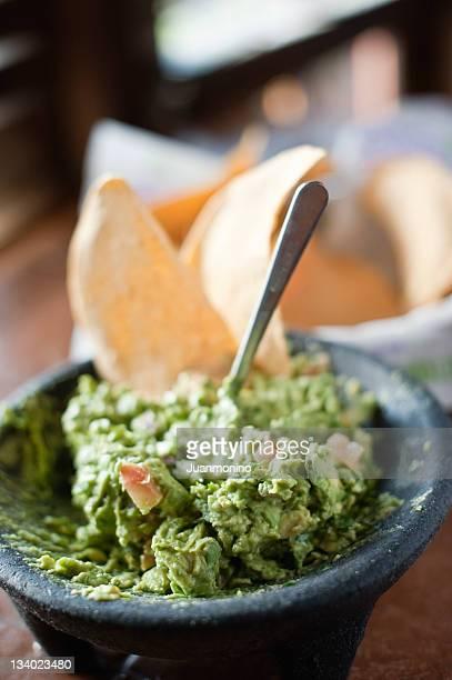 Guacamole em um Restaurante Mexicano