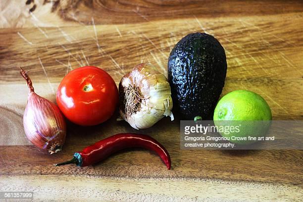 guacamole ingredients - gregoria gregoriou crowe fine art and creative photography stockfoto's en -beelden