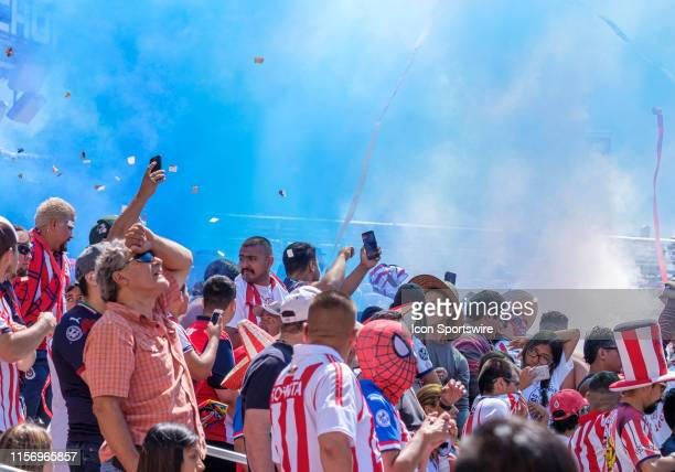 Guadalajara fans put on their own show during the International Champions Cup between S.L. Benfica and C.D. Guadalajara on Saturday, July 20, 2019 at...