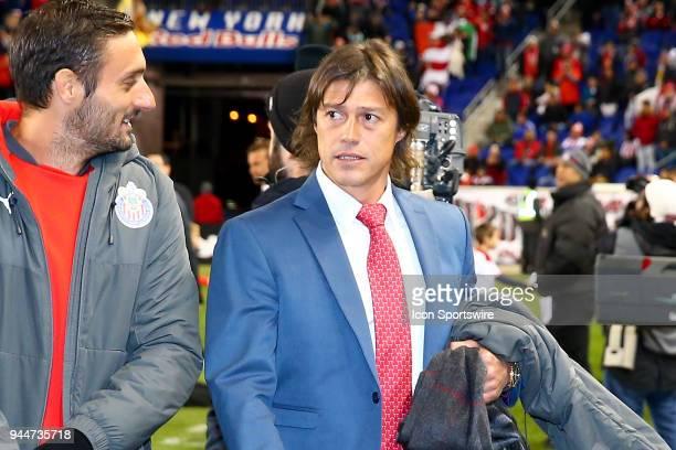 Guadalajara Head Coach Matías Almeyda prior to the CONCACAF Champions League game between Chivas de Guadalajara at NY Red Bulls on April 10 at Red...