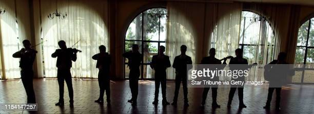 Guadalajara, Mexico 10/26/00--- A mariachi band plays for Minnesota Governor Jesse Ventura and first lady Terry Ventura during their visted at the...