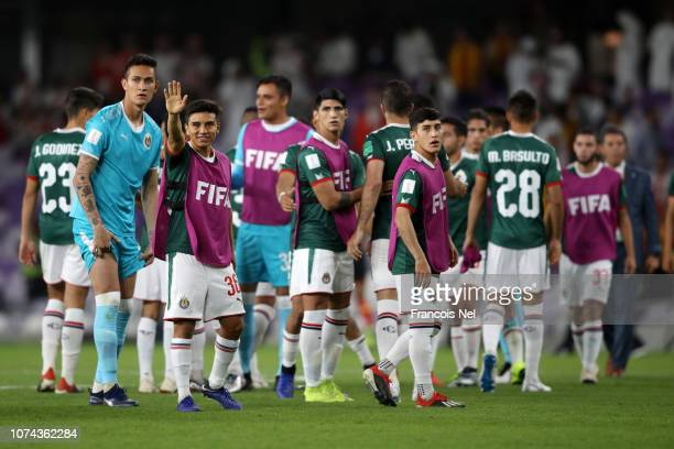 Guadalajara players show appreciation to the fans following defeat in a penalty shoot out following the FIFA Club World Cup UAE 2018 5th Place Match...