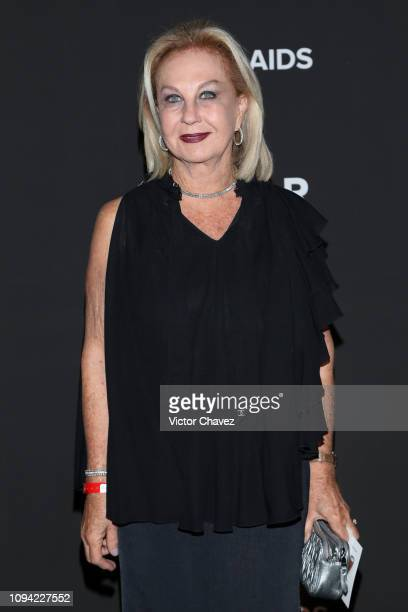 Guadalupe Ramos Cardenas poses during the amfAR gala dinner at the house of collector and museum patron Eugenio López on February 5 2019 in Mexico...