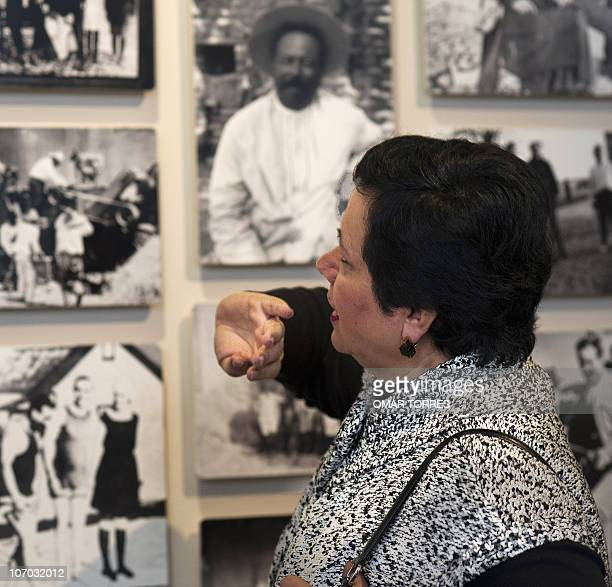 Guadalupe Villa grandaughter of Pancho Villa one of the most charismatic leaders of the Mexican Revolution shows photographs of her grandfather at...