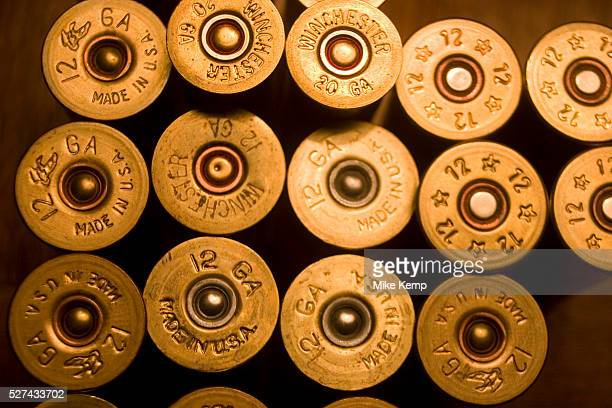 12 guage shotgun shells as used by the hunters during their annual duck and upland game bird hunting These cartridges range in guage size and with...