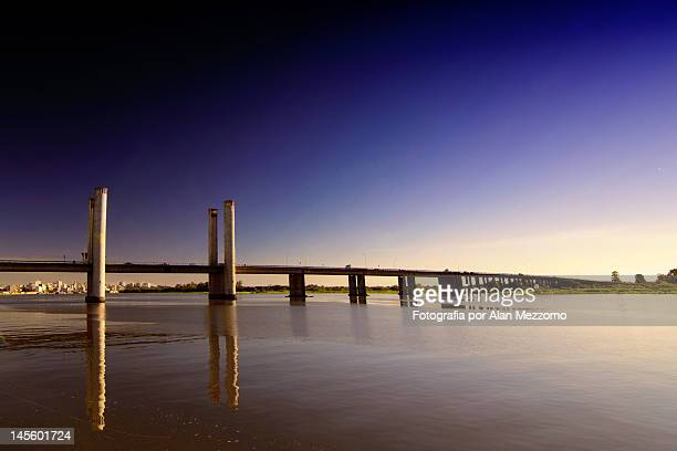 guaiba bridge - porto alegre stock pictures, royalty-free photos & images
