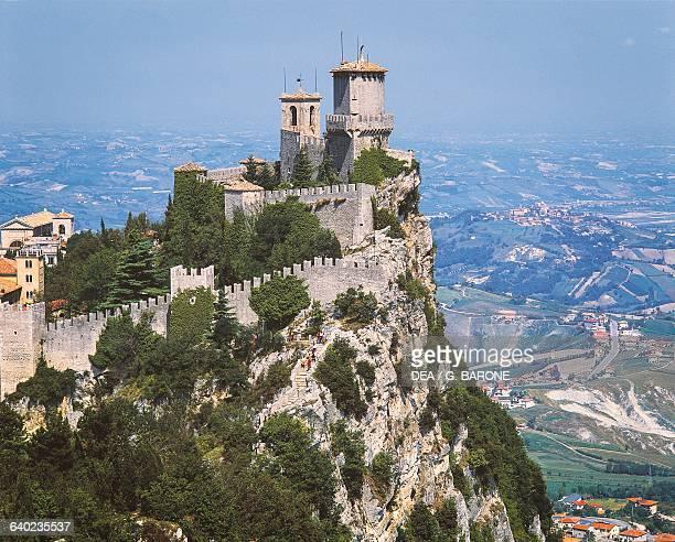 Guaita tower or Rocca tower San Marino Republic of San Marino 11th century